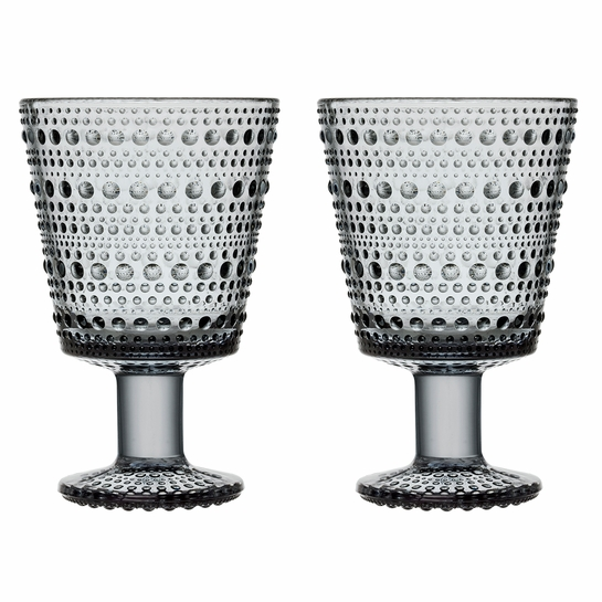 iittala Kastehelmi Grey Universal Glass - Set of 2