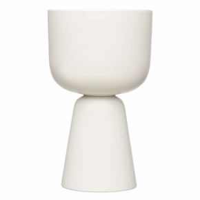 iittala Nappula White Tall Plant Pot