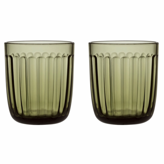 iittala Raami Moss Green Tumblers (Set of 2)