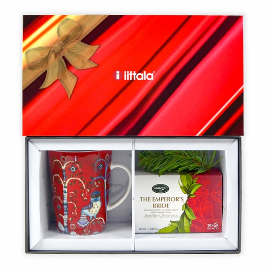 iittala Taika Red Mug + Nordqvist Black Tea Gift Set