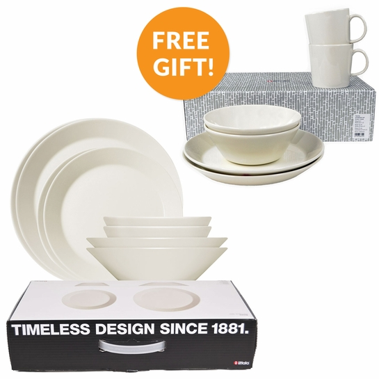 iittala Teema White 16pc Starter Set w/ Free 6pc Breakfast Set