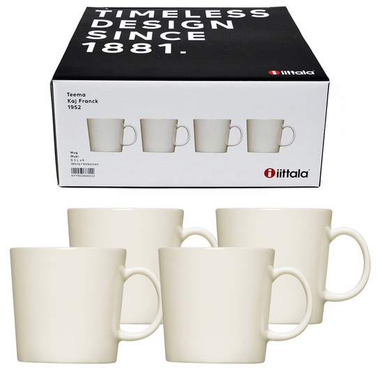iittala Teema White Mug Boxed Mug Set of 4