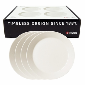 iittala Teema White Salad Plate Boxed Set of 4
