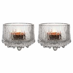 iittala Ultima Thule Clear Candle Holders - Set of 2