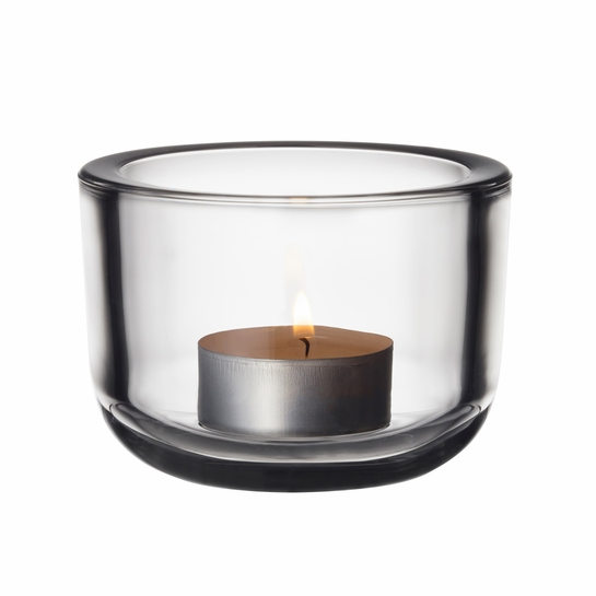 iittala Valkea Clear Tealight Candle Holder