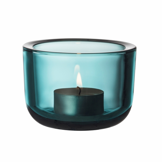 iittala Valkea Sea Blue Candle Holder