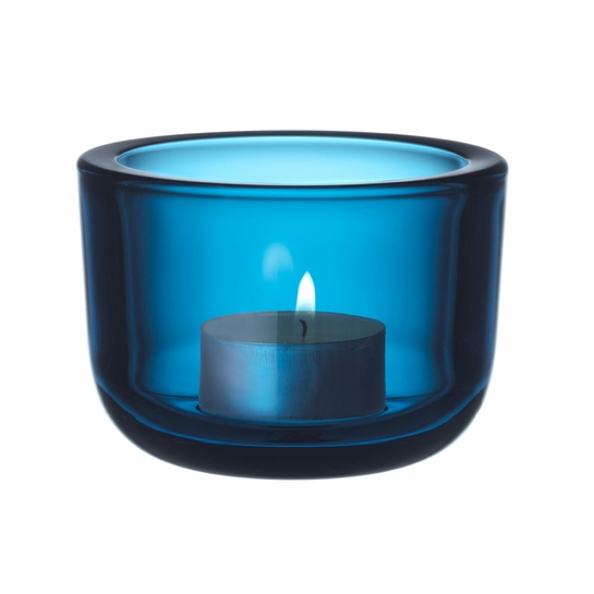iittala Valkea Turquoise Tealight Candle Holder