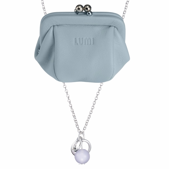 Kalevala Dawn Blue Necklace + Pouch Set