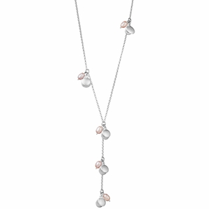 "Kalevala Roosa ""Pink Ribbon"" Silver Necklace"