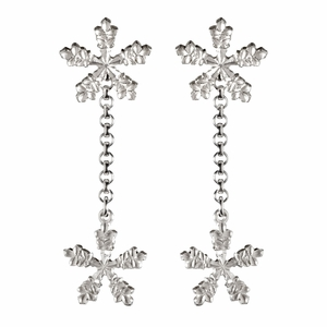 Kalevala Snow Crystal Convertible Silver Earrings