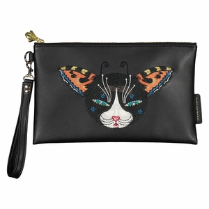 Klaus Haapaniemi Butterfly Cat Vegan Leather Embroidered Clutch
