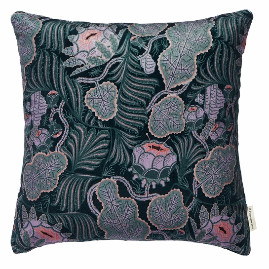 Klaus Haapaniemi Iceflower Emerald Velvet Throw Pillow