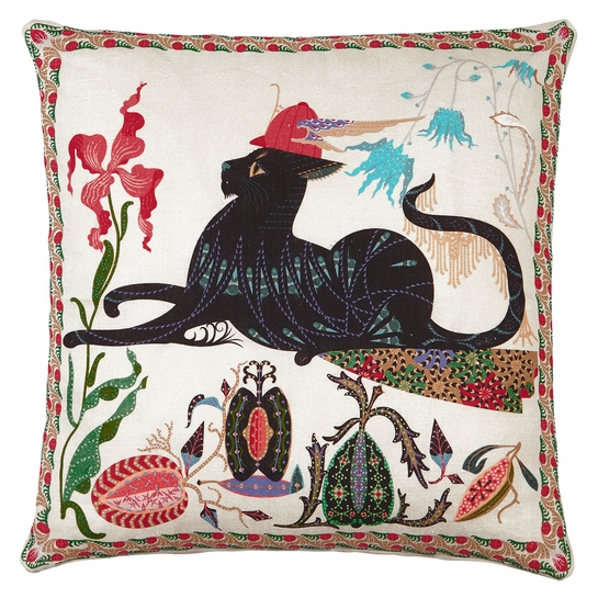 Klaus Haapaniemi Les Chats Putte Throw Pillow