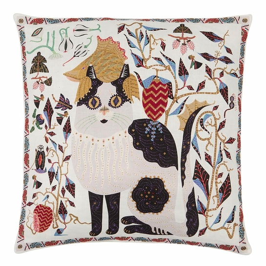 Klaus Haapaniemi Les Chats Ryder Throw Pillow