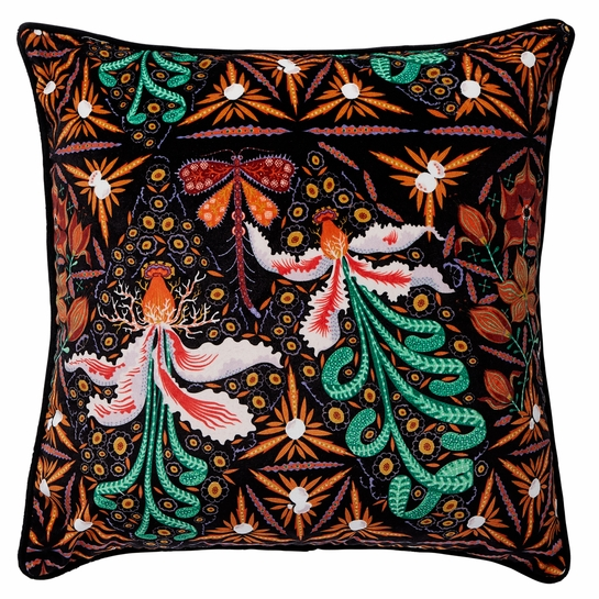 Klaus Haapaniemi Moonflower Velvet Throw Pillow