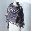 Klaus Haapaniemi Rabbit Blueberry Grey Woven Wool / Silk Shawl