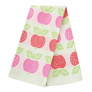 Lapuan Kankurit Omena Pink/Green Tea Towel