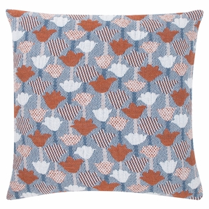 Lapuan Kankurit Tulppaani Blue / Cinnamon Throw Pillow