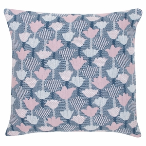 Lapuan Kankurit Tulppaani Blue / Rose Throw Pillow