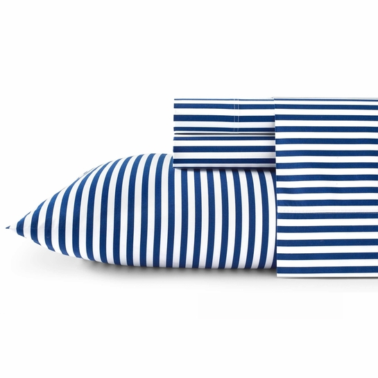 Marimekko Ajo White / Blue Queen Sheet Set