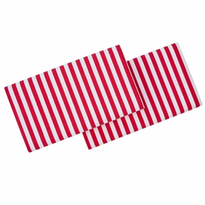 Marimekko Ajo White / Red King Pillowcases - Set of 2