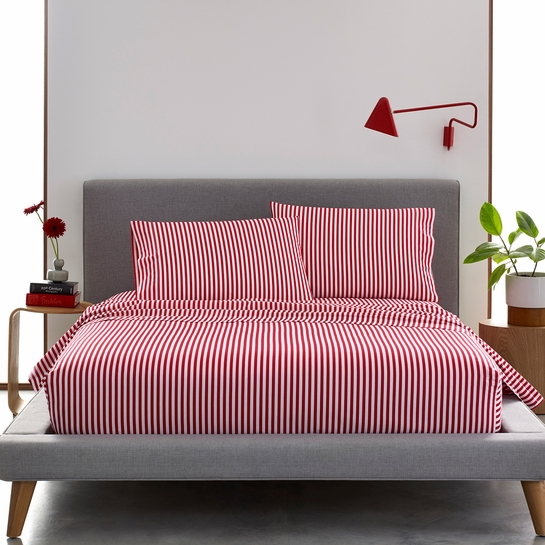Marimekko Ajo White / Red Sheet Sets