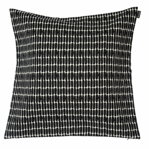 Marimekko Alku Ecru / Black Large Throw Pillow