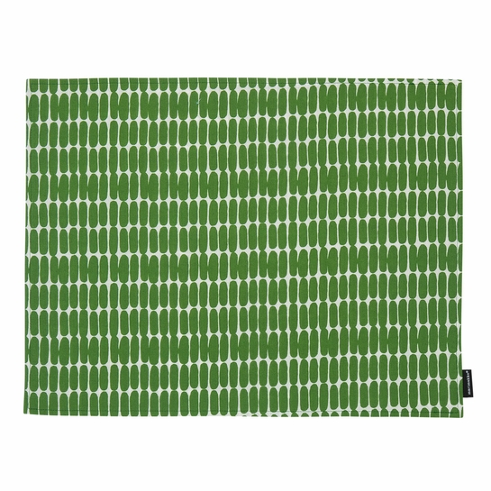 Marimekko Alku White / Green Acrylic-coated Placemat