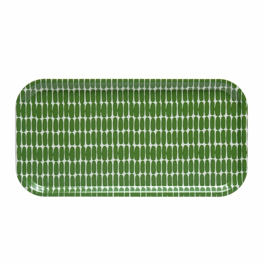 Marimekko Alku White / Green Long Tray