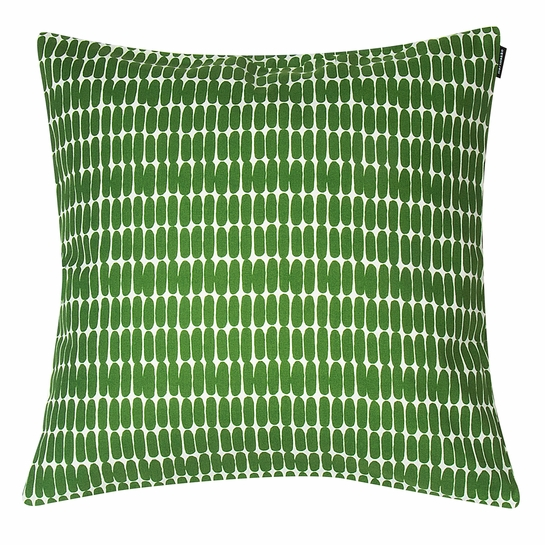 Marimekko Alku White / Green Small Throw Pillow