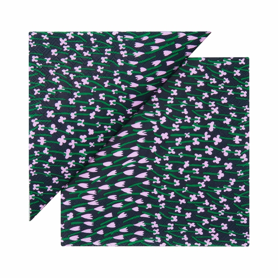 Marimekko Apilainen Navy / Lilac / Green Cocktail Napkins