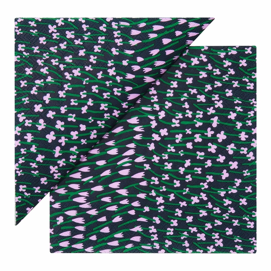 Marimekko Apilainen Navy / Lilac / Green Lunch Napkins