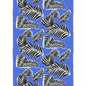 Marimekko Babassu Blue Acrylic-coated Cotton Fabric