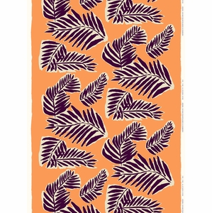 Marimekko Babassu Orange Cotton Fabric
