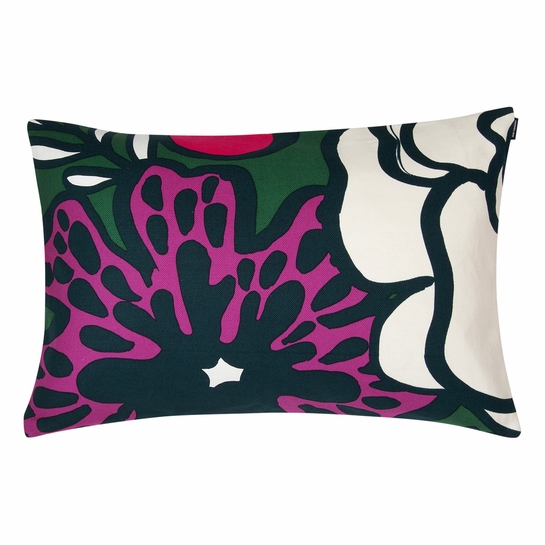 Marimekko Elakoon Elama Green / Multi Heavyweight Lounge Pillow