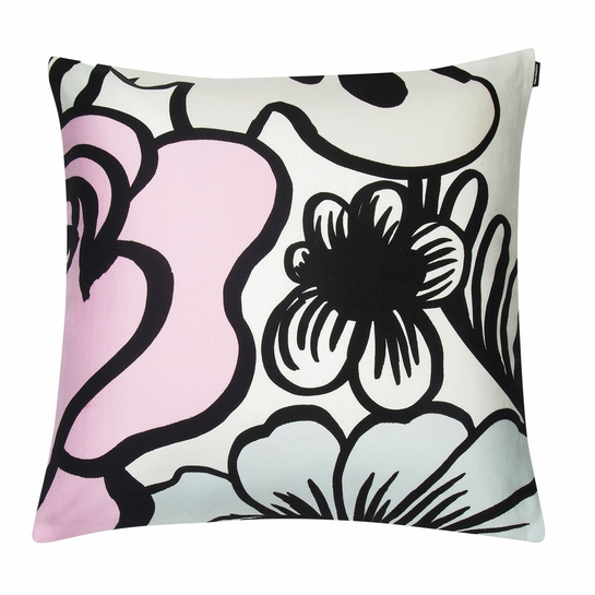 Marimekko Elakoon Elama White / Multi Large Throw Pillow