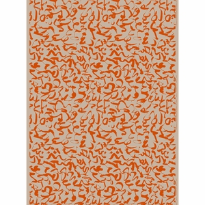 Marimekko Harha Beige / Orange Linen Fabric