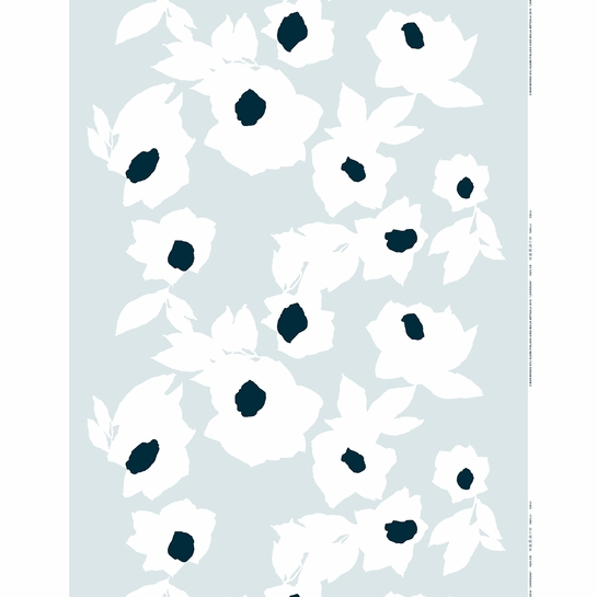 Marimekko Jaarouva Grey / White / Blue Fabric