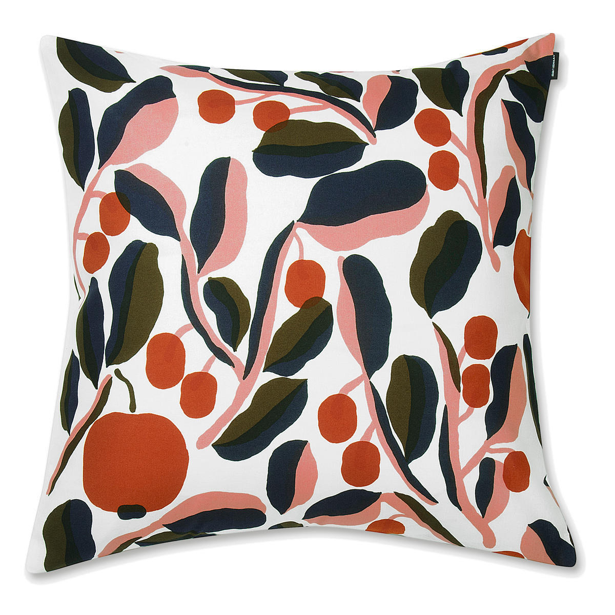 Marimekko Jaspi White Orange Large Throw Pillow