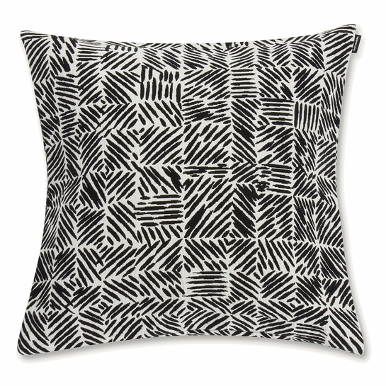 Marimekko Juustomuotti Black / Ivory Medium Throw Pillow