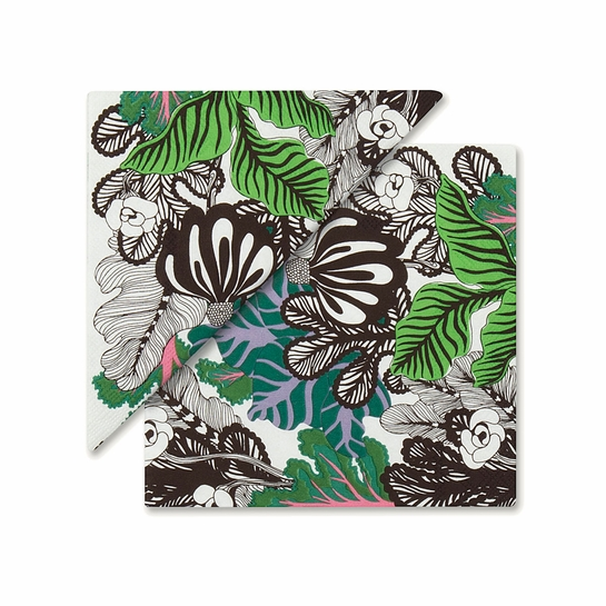 Marimekko Kaalimetsa White / Green / Violet Cocktail Napkins