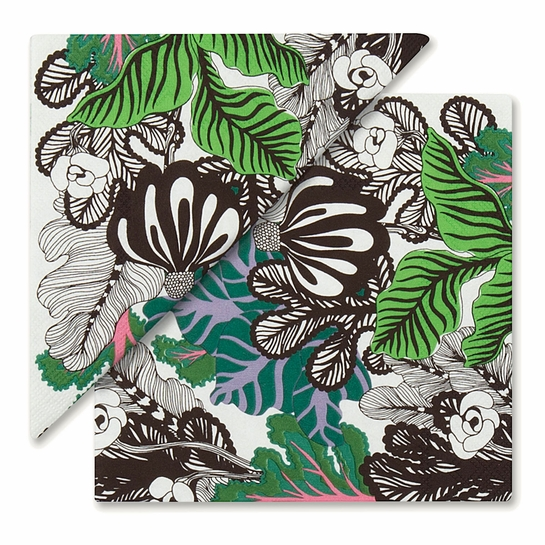 Marimekko Kaalimetsa White / Green / Violet Lunch Napkins