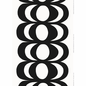 Marimekko Kaivo White / Black Fabric Repeat