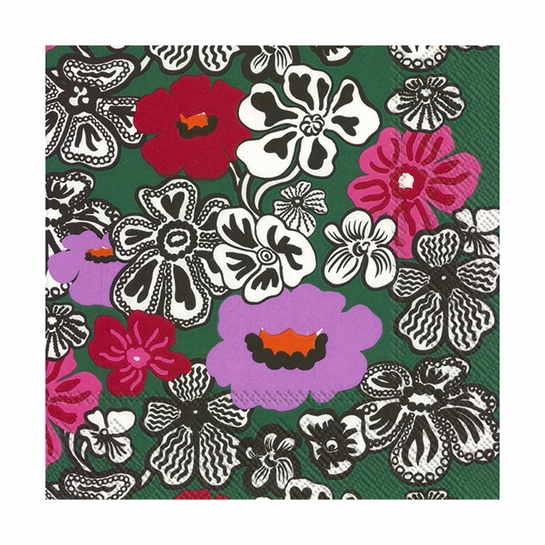 Marimekko Kaukokaipuu Green / Multi Lunch Napkins