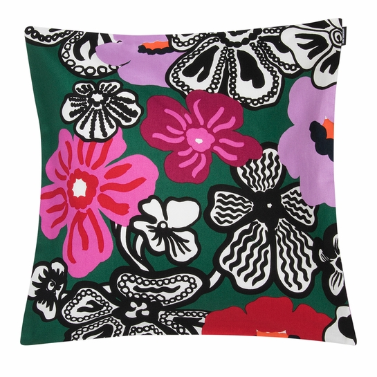 Marimekko Kaukokaipuu Green / Multi Medium Throw Pillow