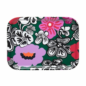 Marimekko Kaukokaipuu Green / Multi Small Tray
