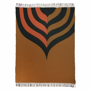 Marimekko Keisarinkruunu Brown / Black / Orange Blanket
