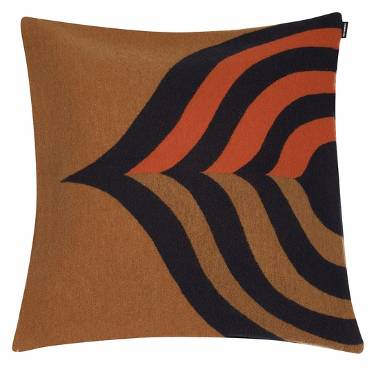 Marimekko Keisarinkruunu Brown / Black / Orange Large Throw Pillow
