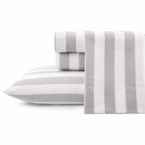 Marimekko Kesahelle White / Grey Twin XL Sheet Set