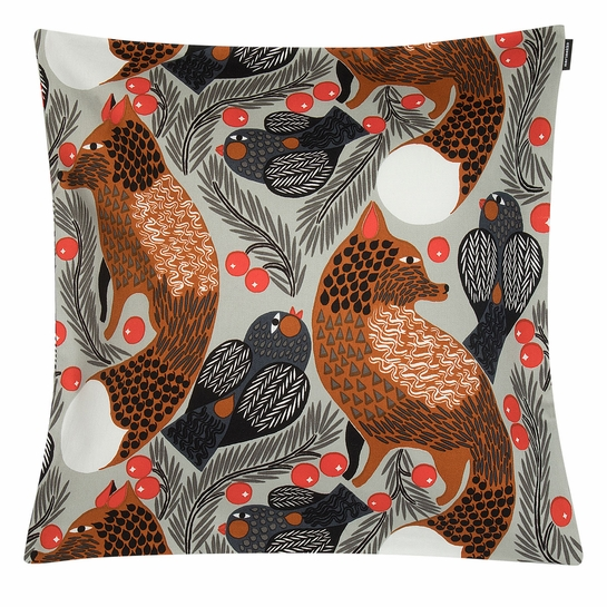 Marimekko Ketunmarja Grey Medium Throw Pillow
